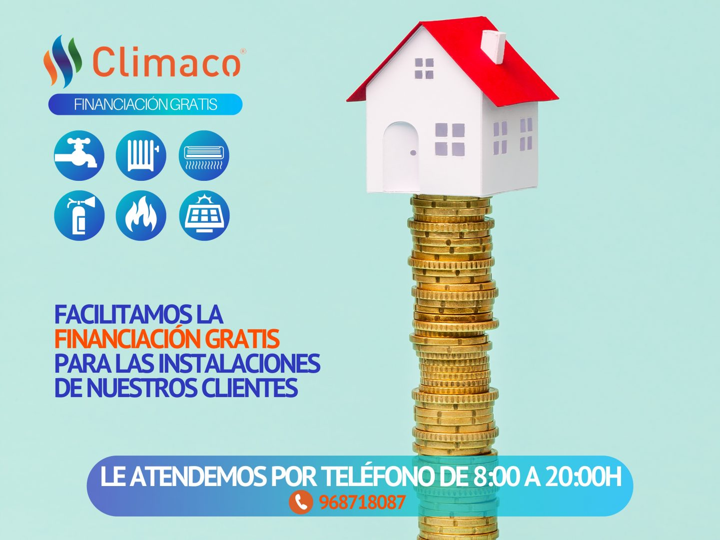 financiación gratis instalaciones climatización